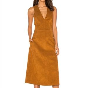 Tibi Castora Faux Suede Dress